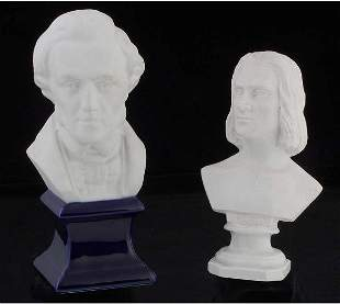 Porcelain Busts of Chopin & Liszt