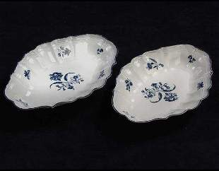 Worcester Zval Dishes Circa 1770s