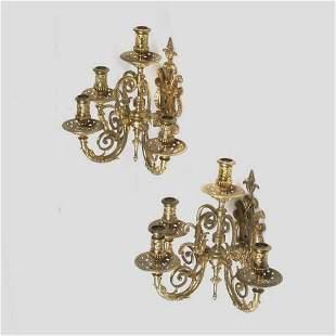 Louis XVI Style Gilt-Bronze,Wall Sconces