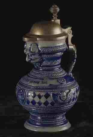 Ceramic Baroque style stein