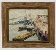 409: Milton Avery, Boats in the Marina. Zil