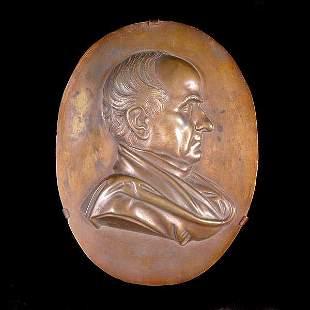 067: Bronze Relief Plaque of a Gentleman