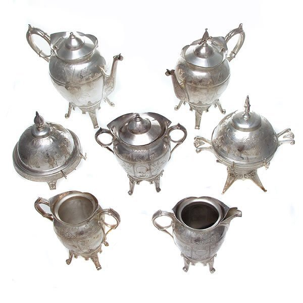 1002: Silver Plated Coffee Service