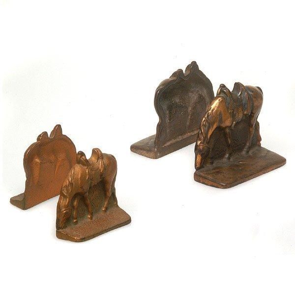 1014: Cast Metal Bronze Bookends