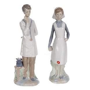 Lladro Style Figurines