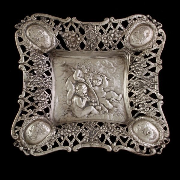 24: Dutch Silver Reticulated Tray