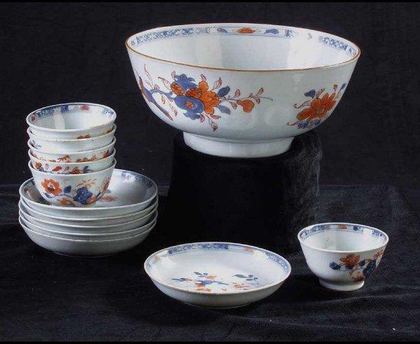 625: Chinese Imari Porcelain tea set