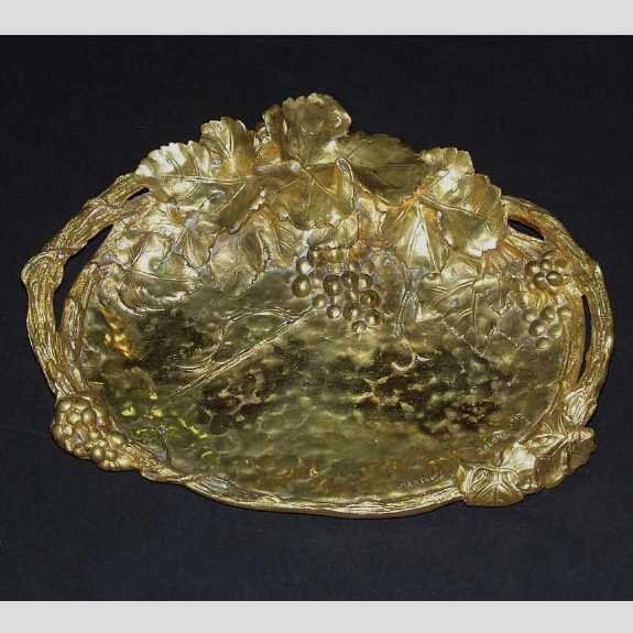 625A: Art Nouveau Gilt Bronze Vide Poche
