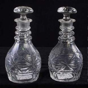 English Cut Glass Decanters