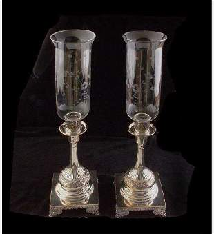 Victorian Silver Plated Candlesticks