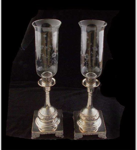 632: Victorian Silver Plated Candlesticks