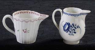 Two English Milk or Cream Pitchers