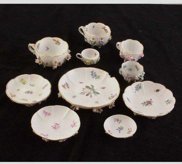 637: Dresden & Meissen Floral Porcelain