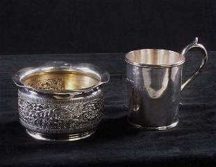 Victorian Coin Silver Christening Cup