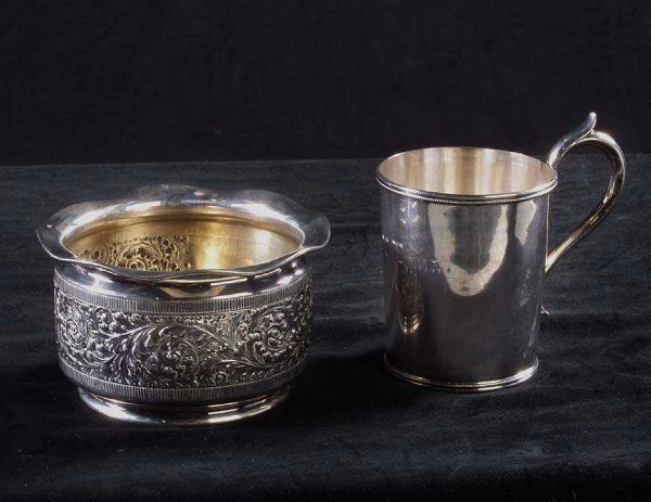 638: Victorian Coin Silver Christening Cup