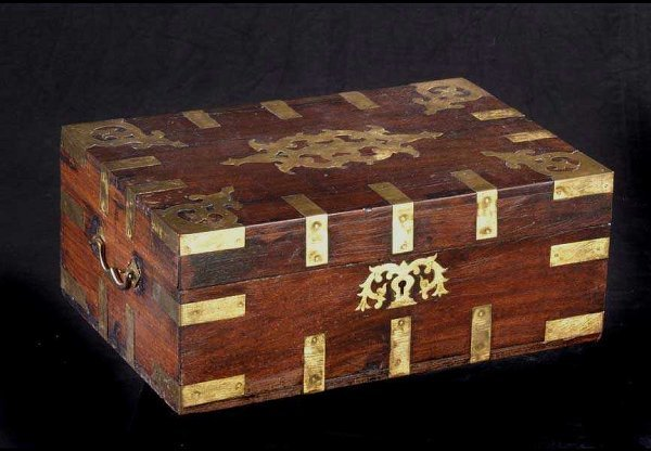 640: Anglo-Indian Rosewood Writing Box