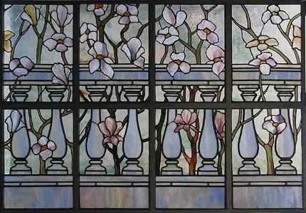 693: Tiffany Studios Glass Window: