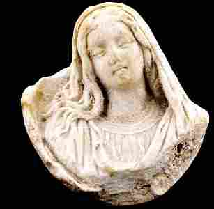 1794: Portrait of the Virgin Mary in bone