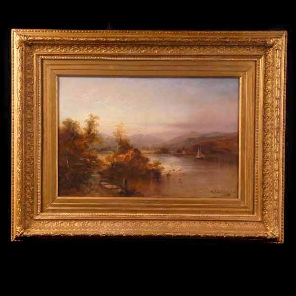 1007: Max Sinclair, Coniston Water, Oil Paint