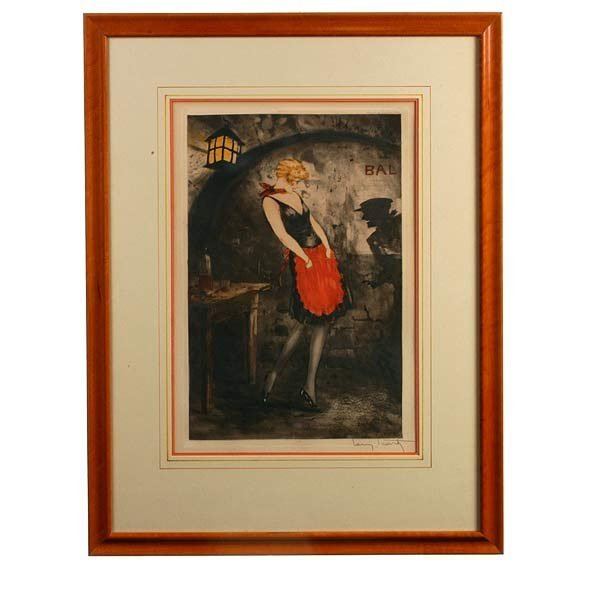 1019: Louis Icart, Apache Dancer. Print