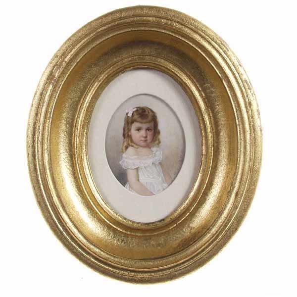 1023: O. Kunath, Miniature portrait, 1900