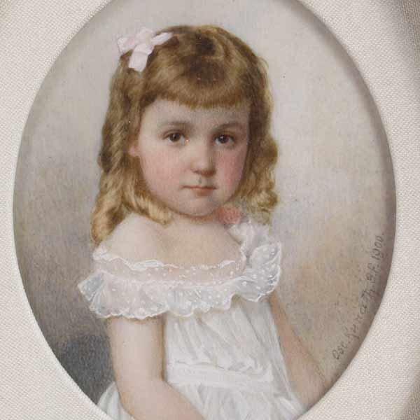 1023: O. Kunath, Miniature portrait, 1900 - 2