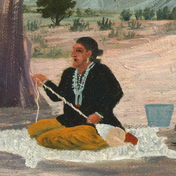 1089: E A Burbank, Indian Crafts, Oil Paintin - 3