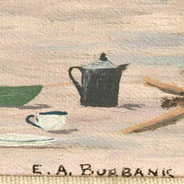 1089: E A Burbank, Indian Crafts, Oil Paintin - 4