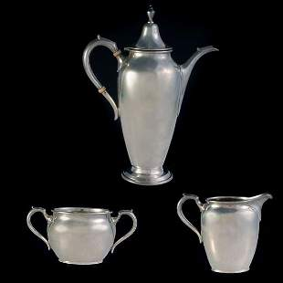 Gumps Sterling Three Piece Tea Sevice