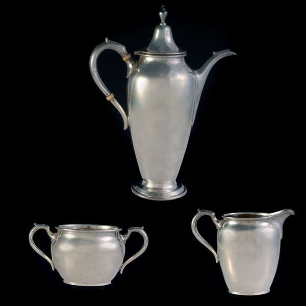 1200: Gumps Sterling Three Piece Tea Sevice