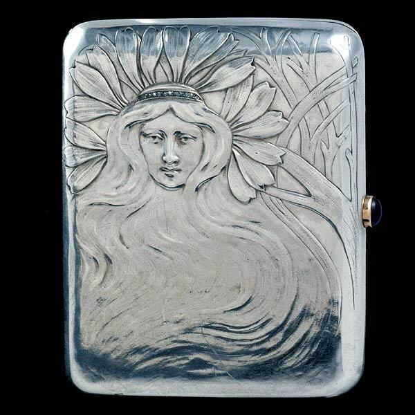 1202: Art Nouveau Faberge Cigarette Case