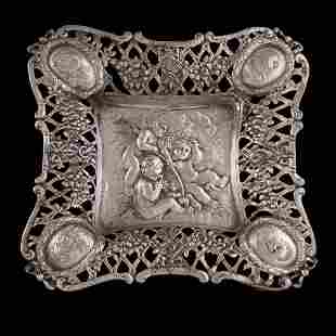 Dutch Silver Reticulated Tray