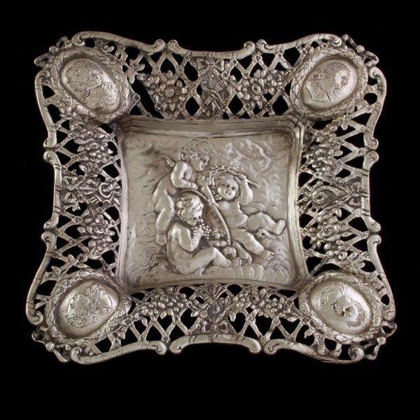 1206: Dutch Silver Reticulated Tray