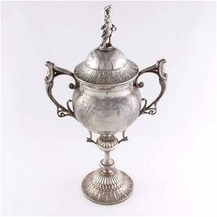 19thC Victorian Sheffield Loving Cup