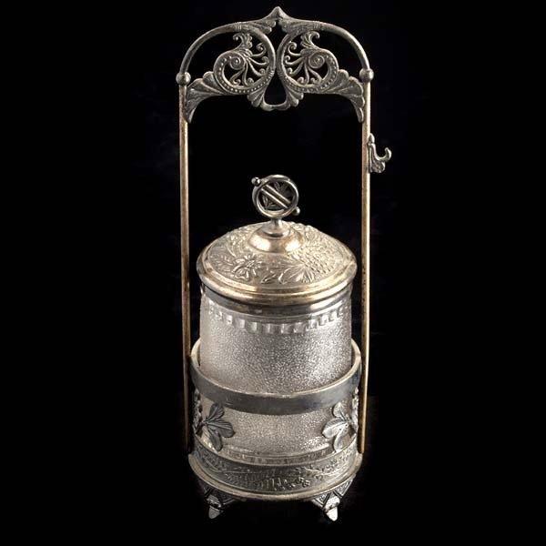 1220: Aesthetic Silverplate Pickle Castor
