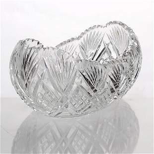 Melon Form Cut Glass Bowl
