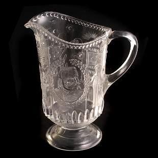 Civil War Pressed Glass Pitcher