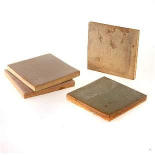 Three Rookwood Faience Tiles