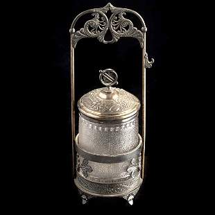 Pairpoint Silverplate Pickle Castor