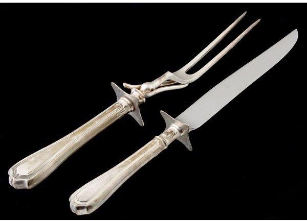 16: Reed & Barton sterling carving set