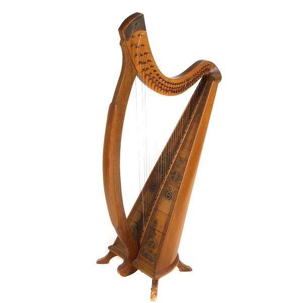 646: Bardic Standing Floor Harp