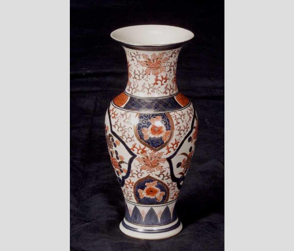1: Chinese crackle glaze porcelaion vase