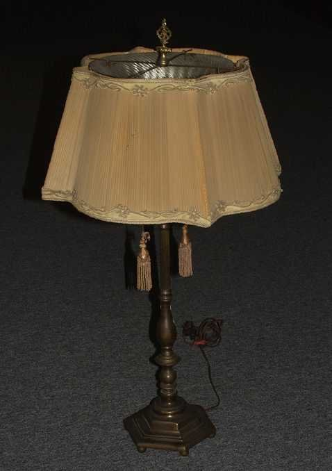 3: Electrified table lamp
