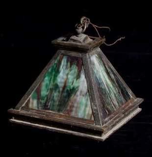 Arts & Crafts hanging light fixture