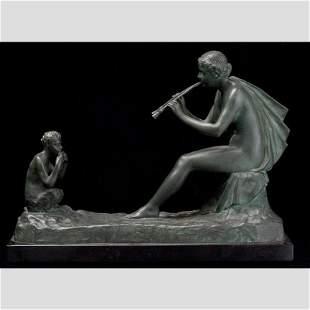 Gustave Obiols Delgado Joueur de flute (Pl