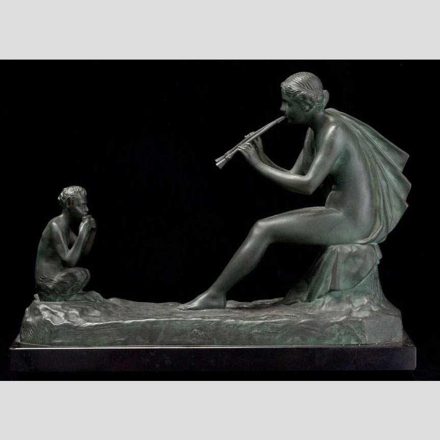 8: Gustave Obiols Delgado Joueur de flute (Pl