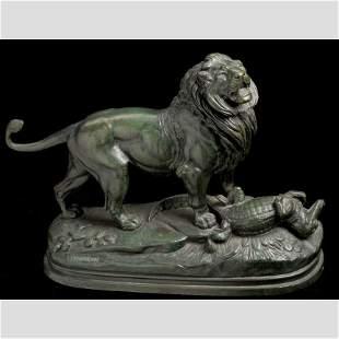 Paul Edouard Delabrierre Lion sur Caiman