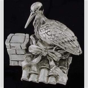 Sterling bird figure