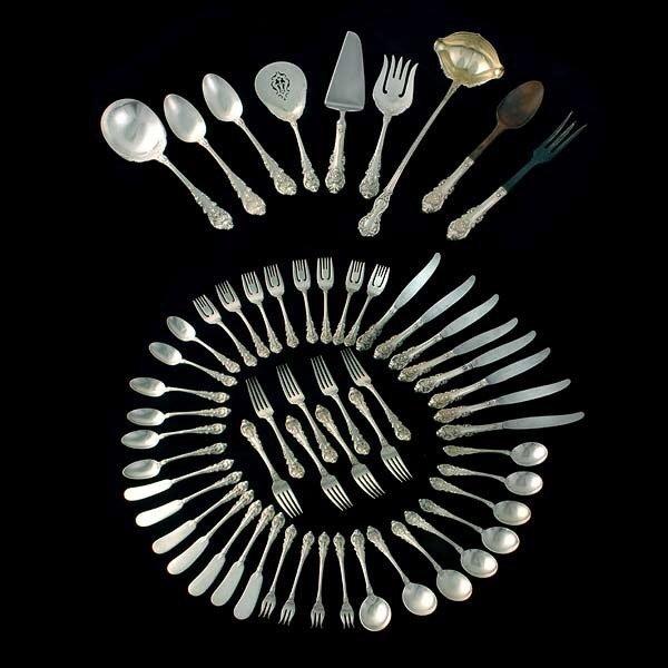 1010:Wallace American Silver Flatware Service