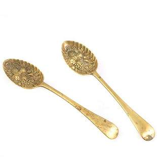 Pair of Brass Serving Spoons